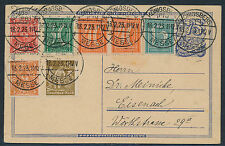 Dt. Reich 30 Pf. Ziffer WZ Waffeln Postkarte Königsberg-Messe geprüft (S12701)