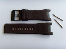 DIESEL Original Ersatzband Lederarmband DZ1216 Uhrband braun 32 mm watch strap