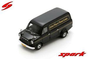 "S2697 Spark: 1/43 Ford Transit F1 Team Lotus 1973 Black ""John Player Team Lotus"""