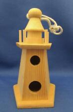 Lighthouse Shaped Wood Birdhouse