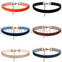 6 Pieces Set Ribbon Choker Necklace Set Velvet Collar for Women and Girls