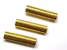 LONG GOLD METAL TEXTURED GARMENT STRAP TUBE - 2 IN PACK