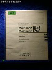 Sony Bedienungsanleitung CPD 15SF1 / 17SF1 Multiscan 15SF /17SF Display (#0631)