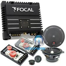 "pkg FOCAL 130A1 CAR AUDIO 5.25"" COMPONENT SPEAKERS + SOLID2 2-CHANNEL AMPLIFIER"