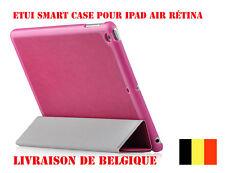 Pink  iPad Air Case Etui Coque En Cuir Housse Case Cover Magenta + film