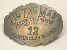 Exotic BRASS Zig Zag Man - Cigarette Paper Member Biker Rock & Roll PIN