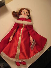 "Disney's Beauty and the Beast Enchanted Christmas 17"" Belle w/ Cape Plush Doll"