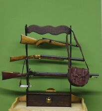 DH  Miniature 1:12  Artisan GUN RACK with 3 Rifles by Terry Harville OOAK IGMA