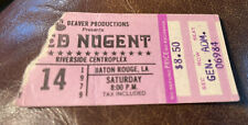 TED NUGENT RARE CONCERT TICKET STUB BATON ROUGE, LA 07/14/1979