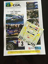 DECALS 1/24 SUBARU IMPREZA WRC KANKKUNEN RALLYE MONTE CARLO 2000 RALLY HASEGAWA