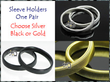 WOMENS SHIRT SLEEVE HOLDERS, ARM BANDS, GOLD or BLACK STRETCH SLEEVEHOLDERS