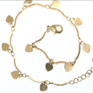 "Heart Charms Ankelts Women Girl Summer Jewelry Bohemia Foot Bracelet Summer 10"""