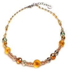 NEW  Genuine Antica Murrina Amber Delhi Murrano Glass Necklace CO870A10 £84