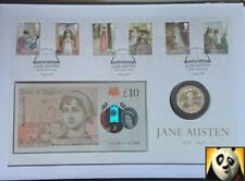2017 SCARCE Jane Austen £10 Note & £2 Pound Coin Cover PNC Ltd Edition of 250!