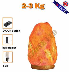 2-3 KG Himalayan Salt Lamp with free cable and bulb Ideal gift Natural Rock