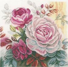 LANARTE  0165376  Pink rose  Kit  Broderie  Point de Croix  Compté