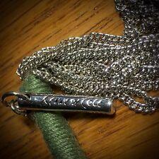 "Designer Kenneth Cole Multi-10 Chain Silver-tone Long Necklace 36"""