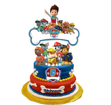 Paw Patrol Personalized Cake Topper decoration. Age and Name.