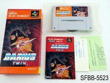 Complete Darius Twin Super Famicom Japanese Import CIB Japan SFC US Seller B