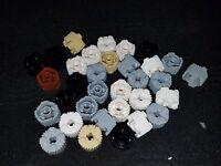 Lego textured ROUND PILLAR cylinder 2x2 Brick bulk lot  #92947  (30) pieces