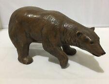 Vintage Duncan Ceramic Prod. 1975 Brown Bear Figure Desk Statue Grizzly Vtg
