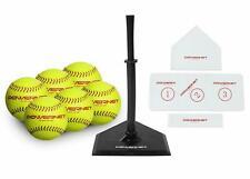 PowerNet Softball T-Ball Coaching Bundle, 8 Piece Tee-Ball Set