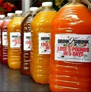 BOGO Free $15 Drink2Shrink Flat  Belly weight Loss Juice Do It Yourself Kit