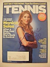MONICA SELES signed 2009 TENNIS magazine Autographed AUTO sports illustrated '09