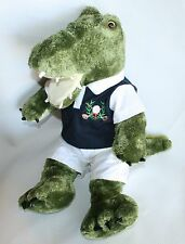 "Bear Factory Plush Alligator Golf shirt shorts Stuffed Animal 18""  2001 RARE"