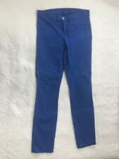J BRAND Women's Super Skinny Royal Blue Pants Stretchy Size 27 Excellent Cond.
