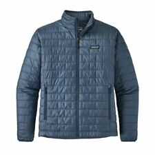 Patagonia 2018 Mens L/large Nano Puff Jacket Dolomite Blue 100 Authentic