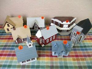 Model Railroad Approx. O/S? Scale Handmade Mahogany Plywood Buildings