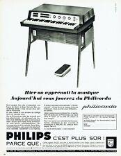 Publicité Advertising 109  1965  Philips  piano Philicorda