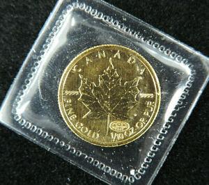 2000 1/10 oz $5 Gold Maple Leaf Coin Fireworks Privy 9999 Fine Au RCM Canada