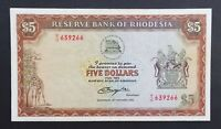Rhodesia 5 Dollars Banknote~20/10/1978 Lion/Lioness~P#36b~VF~S/N M/18 639266