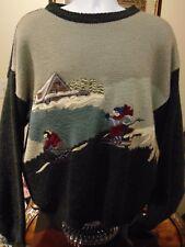 Serge Saint Yves Sport Sking Christmas Sweater large