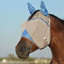 CASHEL CRUSADER FLY MASK STANDARD HORSE Covers EARS BLUE