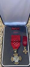 Complete Cased Military Marine Corps Brevet Medal Miniature Ribbon Bar Lapel
