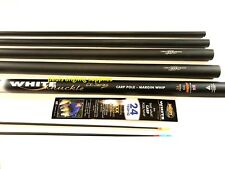 Middy 6m Carbon White Knuckle  Fishing Pole  & 2 X Top Kits with Elastic fitted