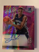 IVAN RABB 2017-18 SPECTRA PINK RISING STARS ON-CARD AUTOGRAPH RC GRIZZLIES /25