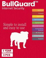 Bullguard Internet Security 2019 - 3 Devices - 1 Year-  All Windows + MAC