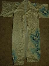 Kimono pure Seide gefüttert XL Morgenmantel Bademantel L silk soje robe Yukata
