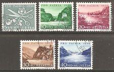 1956 Switzerland Pro Patria SG 571-575 Used (Cat £25)