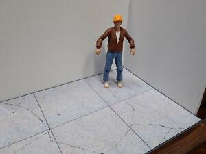 Concrete Floor Photo Prints  Scale Action Figure Garage Diorama Dollhouse