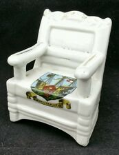 VINTAGE c.1920's CRESTED WARE WAINSCOT CHAIR, ARMS OF WEYMOUTH, 7.5cm TALL 3404