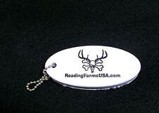 ReadingFarmsUSA.com WHITE Boat boating floating key chain marine float keychain