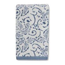 "Threshold Hand Towel Blue Floral Design 27""x16"""