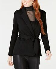 XOXO Juniors Tie-Waist Blazer Black Size XS