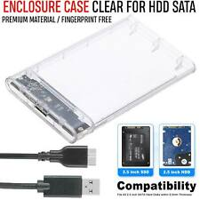 Slim 2.5″ Inch SATA to USB 3.0 External Hard Drive HDD SSD Enclosure Caddy Case