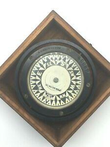 VINTAGE MARINE E.S.RITCHIE BOSTON COMPASS- MODEL #46687 IN ORIGINAL WOODEN BOX